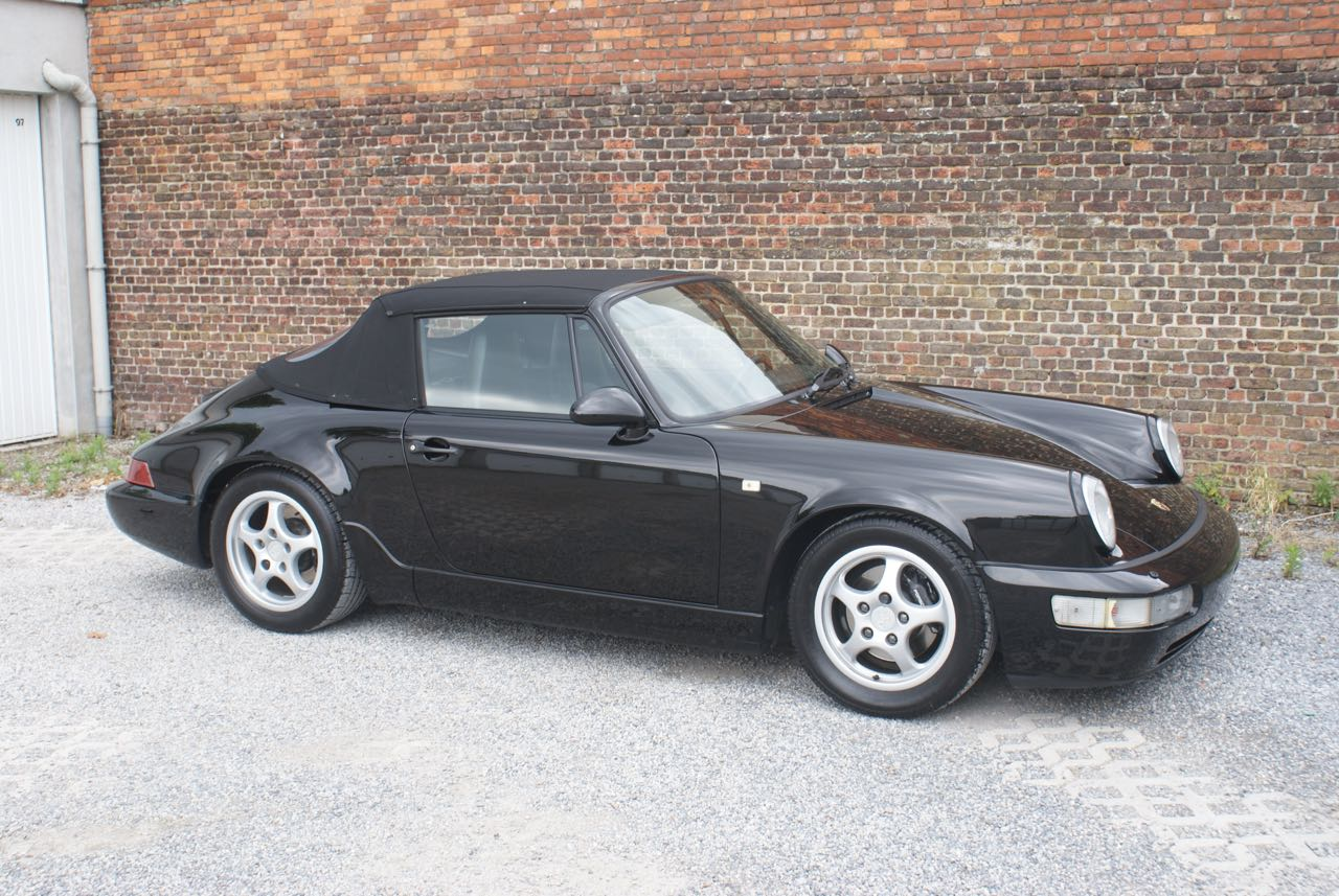 911 youngtimer - Porsche 964 Carrera 4 cabriolet - black - 1992 - 6 of 13