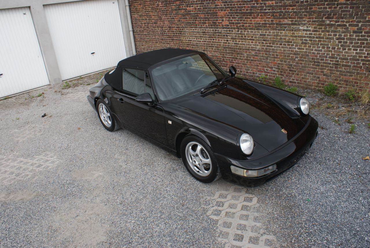 911 youngtimer - Porsche 964 Carrera 4 cabriolet - black - 1992 - 7 of 13